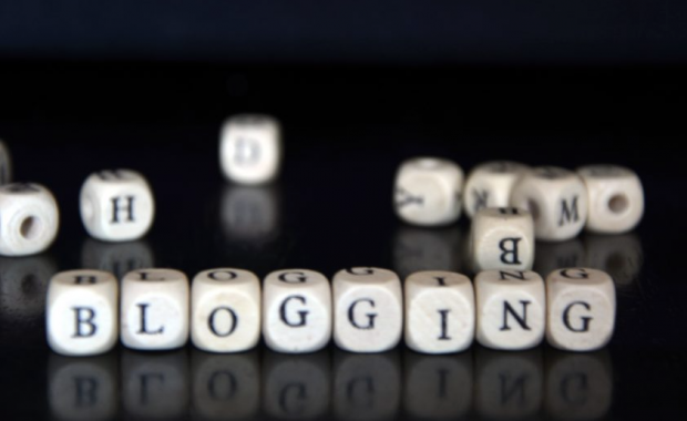 Image of letters that say Blogging