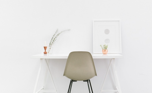 Image of a modern desk and chair