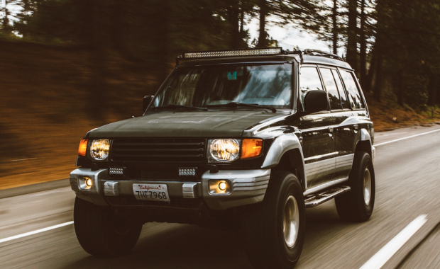 Image of Land Rover driving