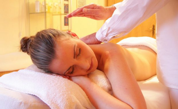 Image of a woman getting a massage